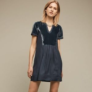 Anthropologie Maeve Women's Velvet Tunic Dress